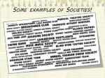 some examples of societies