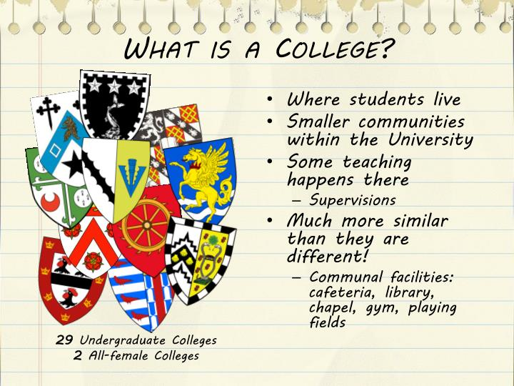 What is a College?