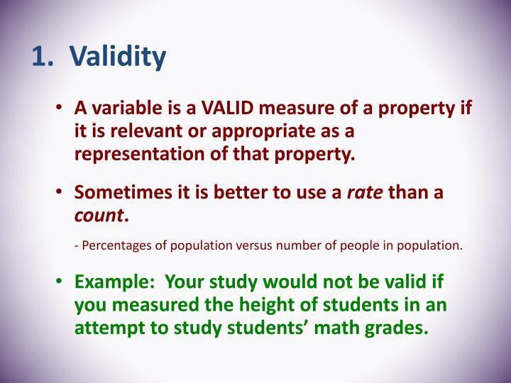 1.  Validity