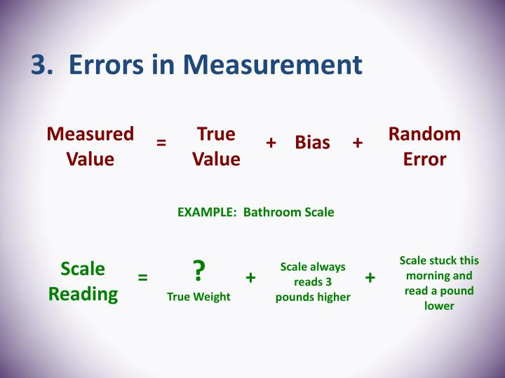 3.  Errors in Measurement