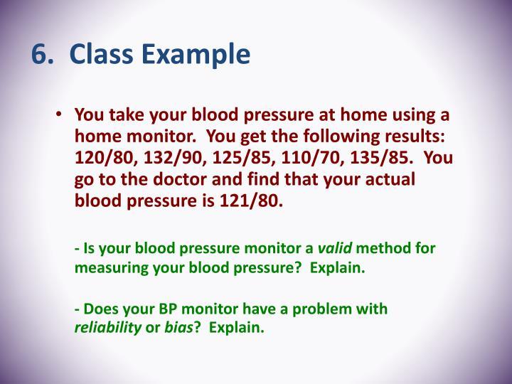 6.  Class Example