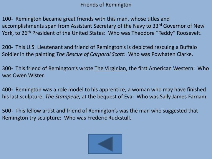 Friends of Remington