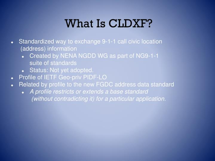 What Is CLDXF?