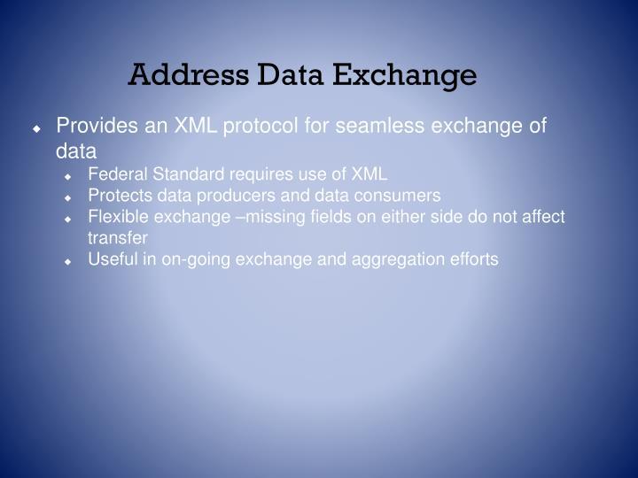 Address Data Exchange