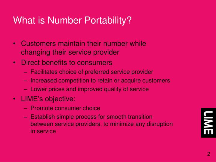 What is Number Portability?