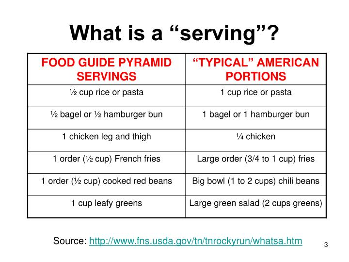 What is a serving