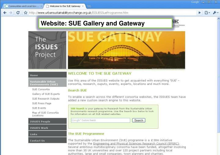 Website: SUE Gallery and Gateway