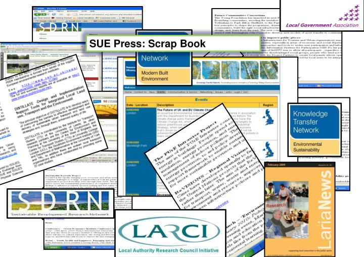 SUE Press: Scrap Book