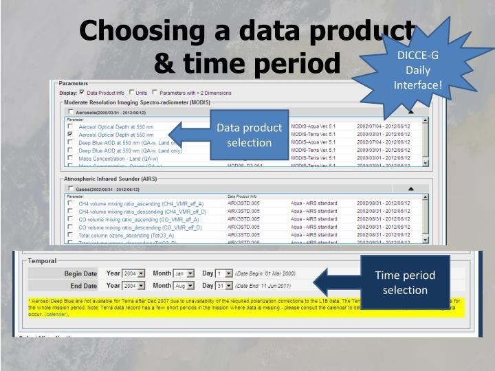 Choosing a data product