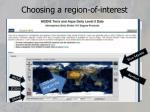 choosing a region of interest