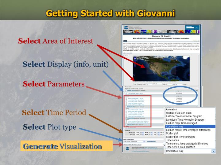 Getting Started with Giovanni