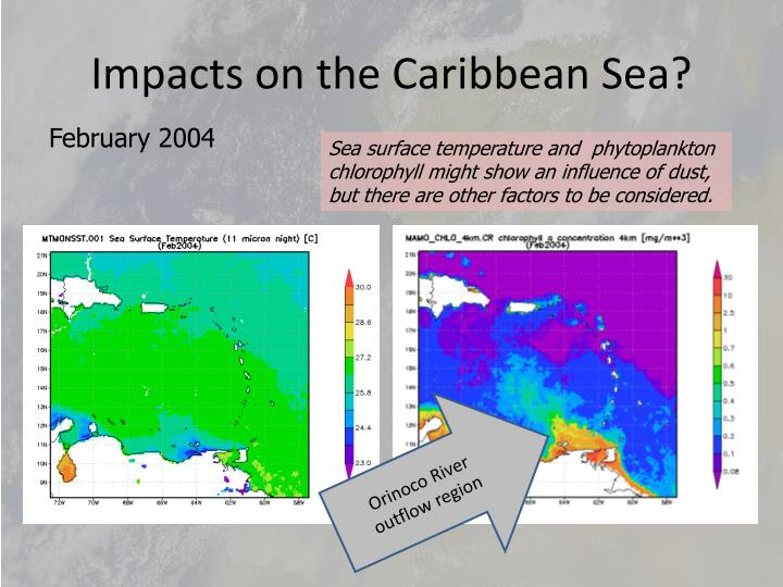 Impacts on the Caribbean Sea?