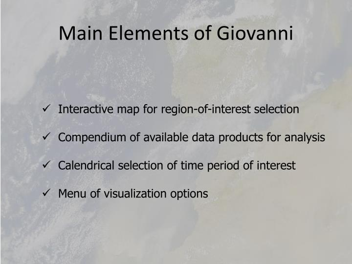 Main Elements of Giovanni