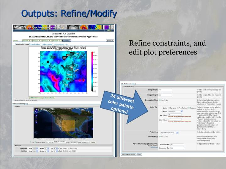 Outputs: Refine/Modify