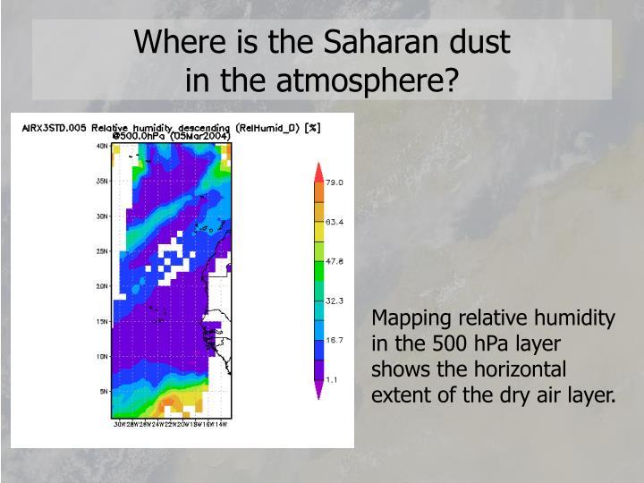 Where is the Saharan dust