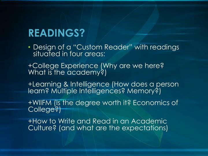 READINGS?