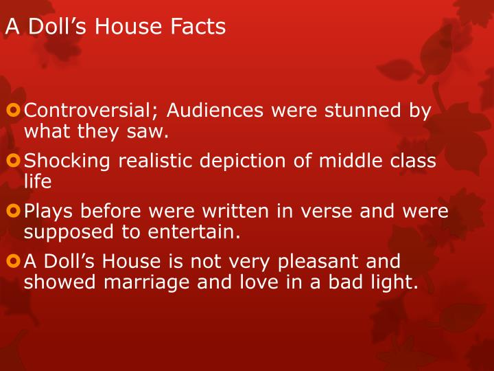 A Doll's House Facts