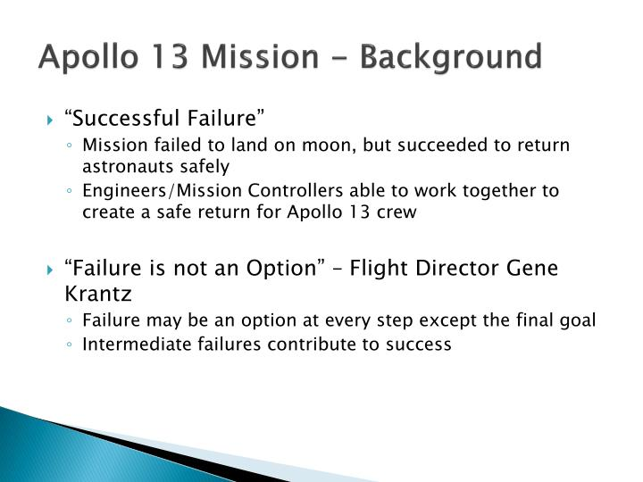 Apollo 13 mission background
