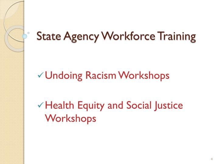 State Agency Workforce Training