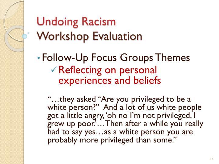 Undoing Racism
