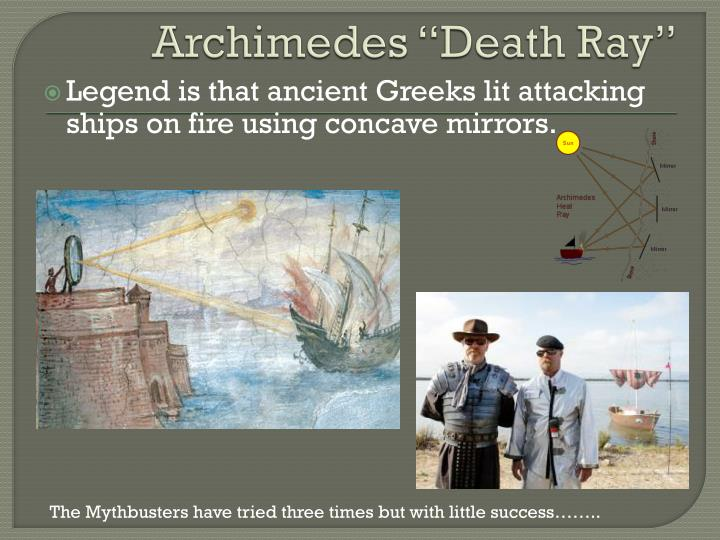 "Archimedes ""Death Ray"""