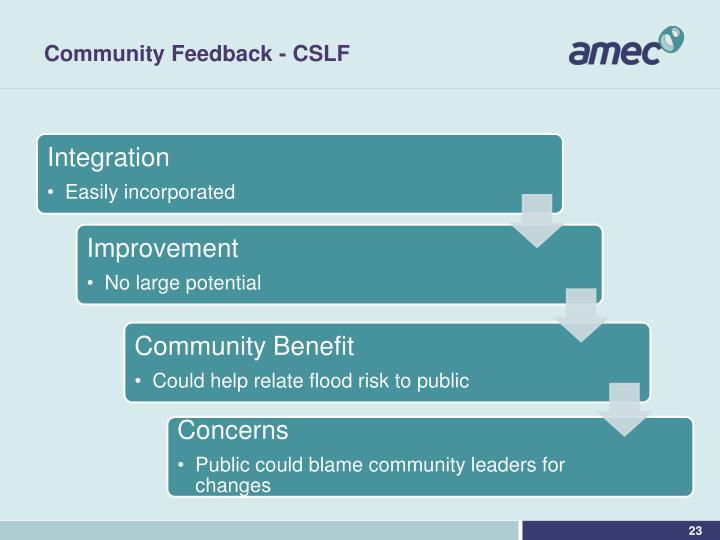 Community Feedback - CSLF