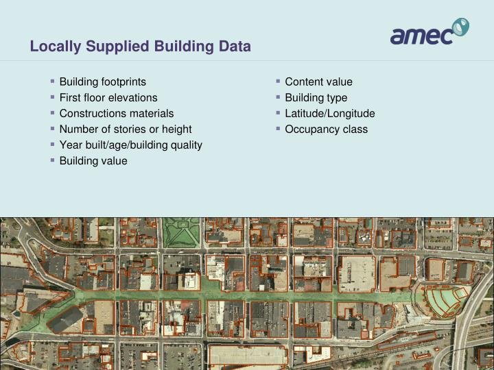 Locally Supplied Building Data