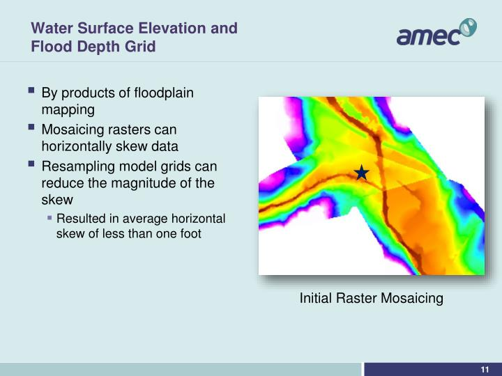 Water Surface Elevation and Flood Depth Grid