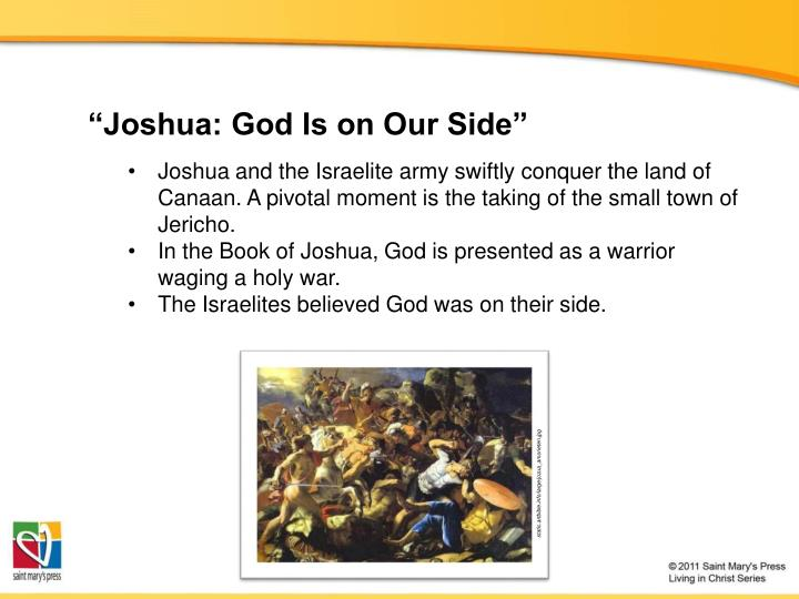 """""""Joshua: God Is on Our Side"""""""