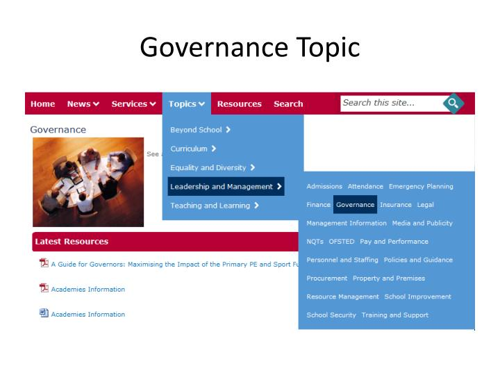 Governance Topic