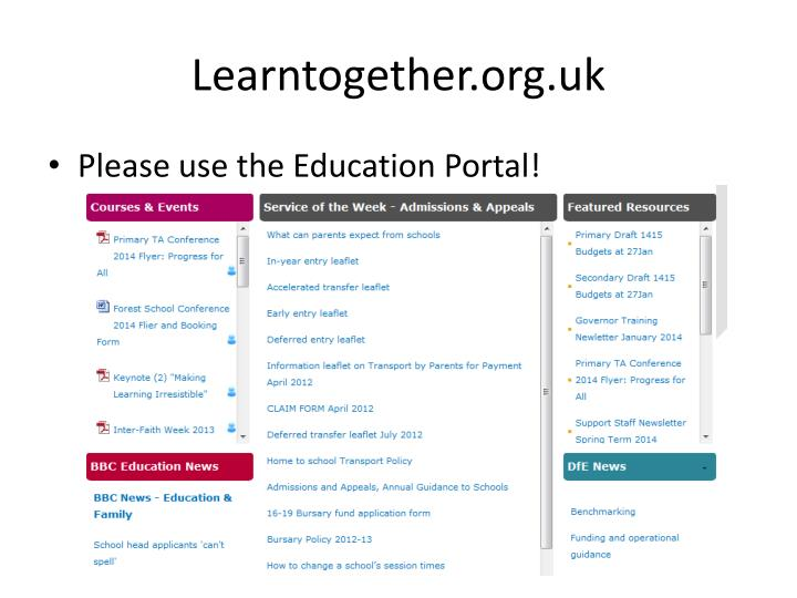 Learntogether.org.uk