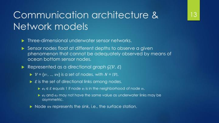 Communication architecture &