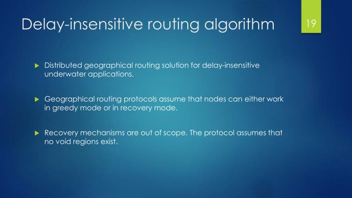 Delay-insensitive routing algorithm