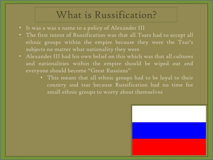 What is Russification
