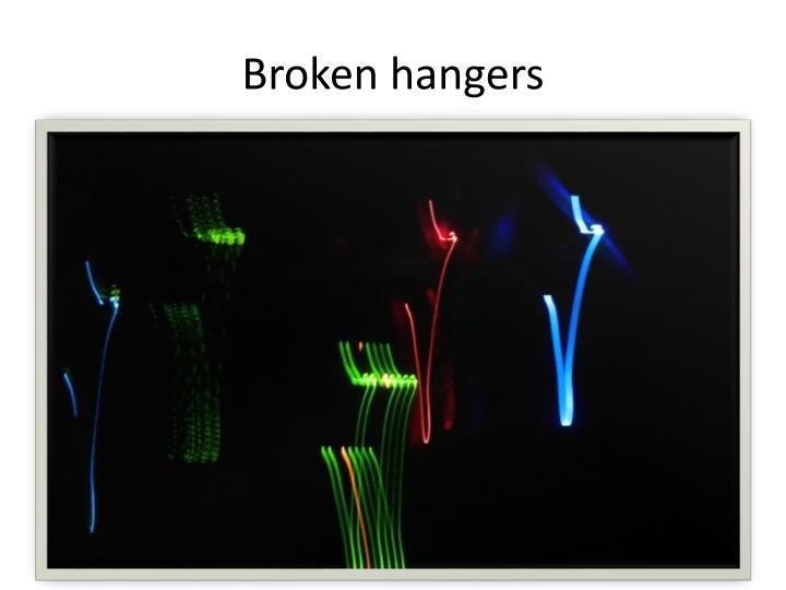 Broken hangers