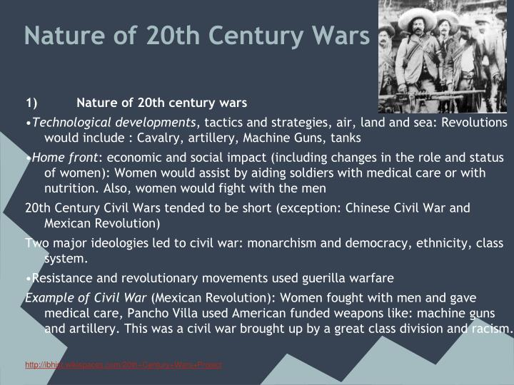 Nature of 20th century wars