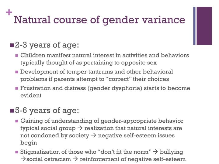 Natural course of gender variance