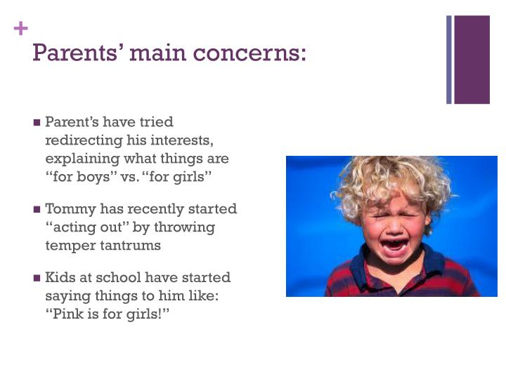 Parents main concerns