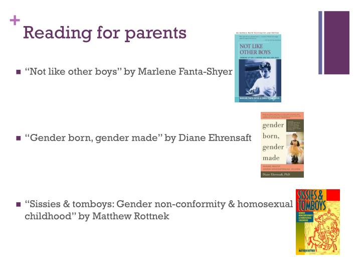 Reading for parents