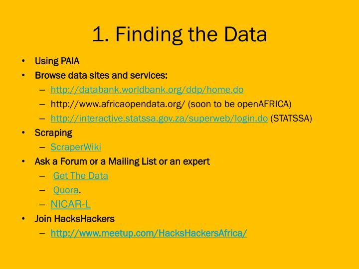 1. Finding the Data