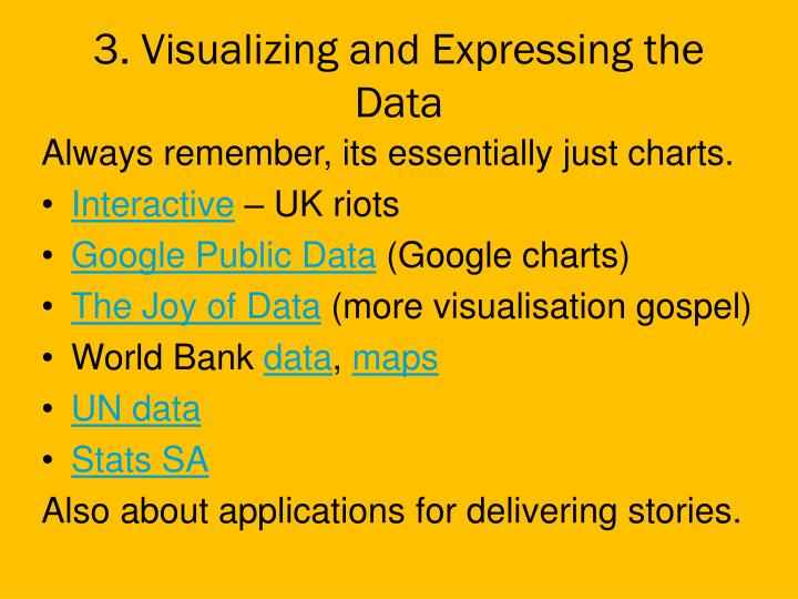 3. Visualizing and Expressing the Data