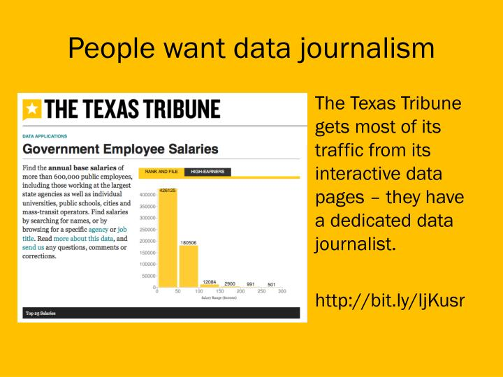 People want data journalism
