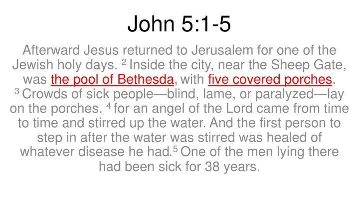John 5:1-5