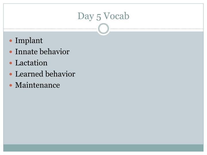 Day 5 Vocab