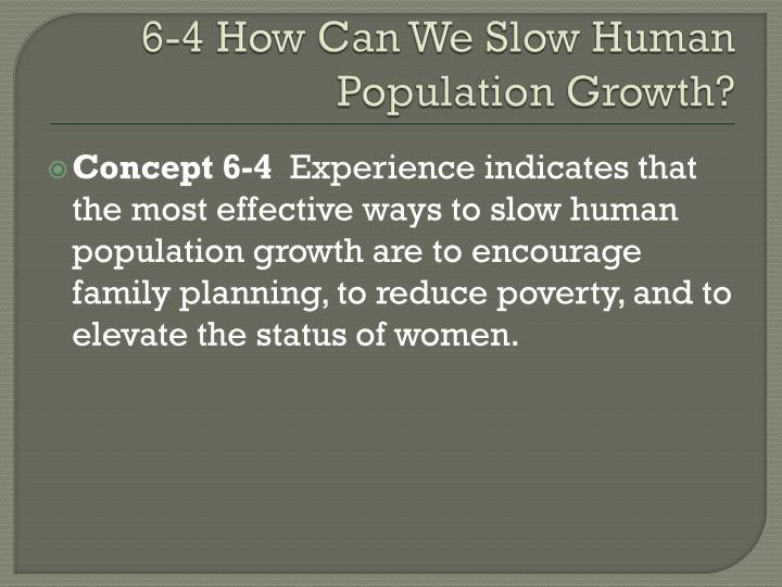 6-4 How Can We Slow Human Population Growth?