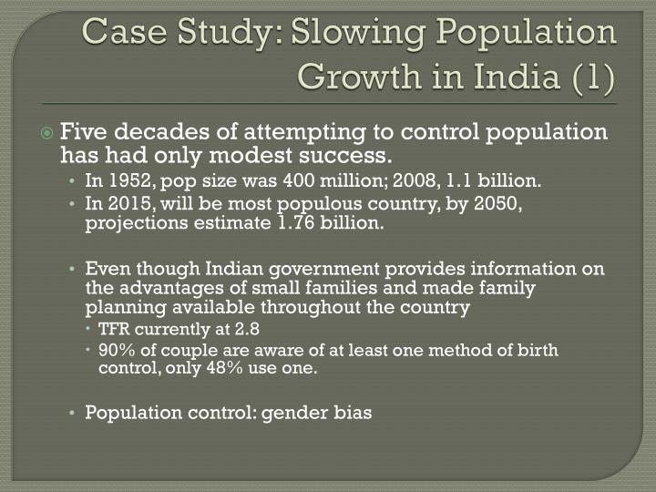 Case Study: Slowing Population