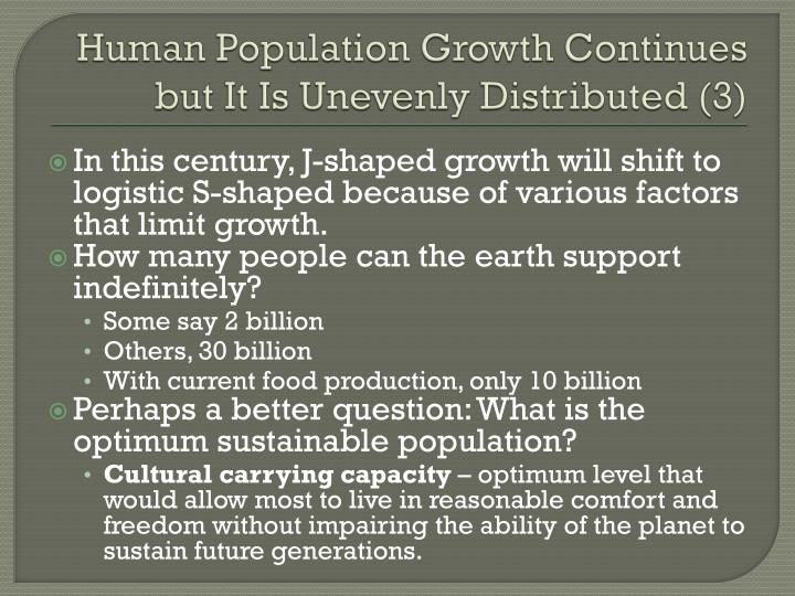 Human Population Growth Continues but It Is Unevenly Distributed (3)