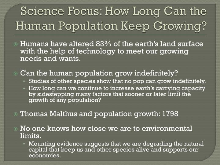 Science Focus: How Long Can the Human Population Keep Growing?