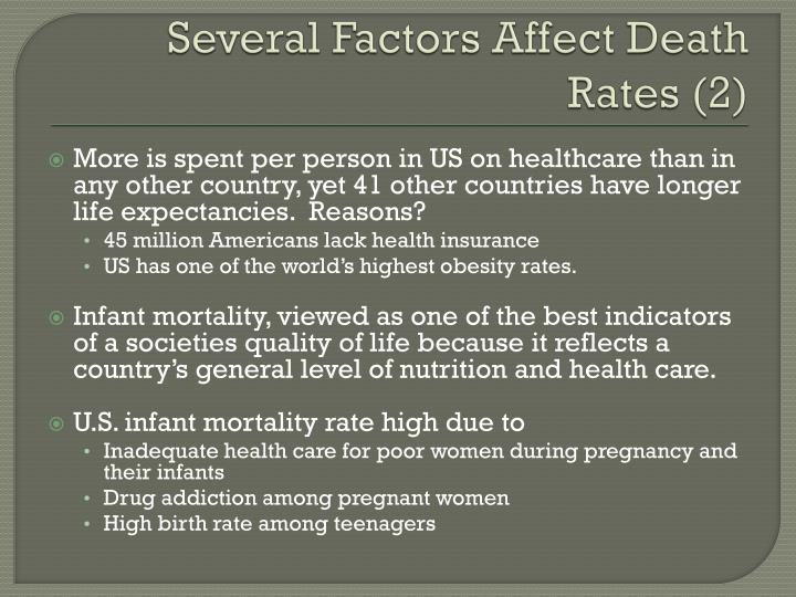 Several Factors Affect Death Rates (2)