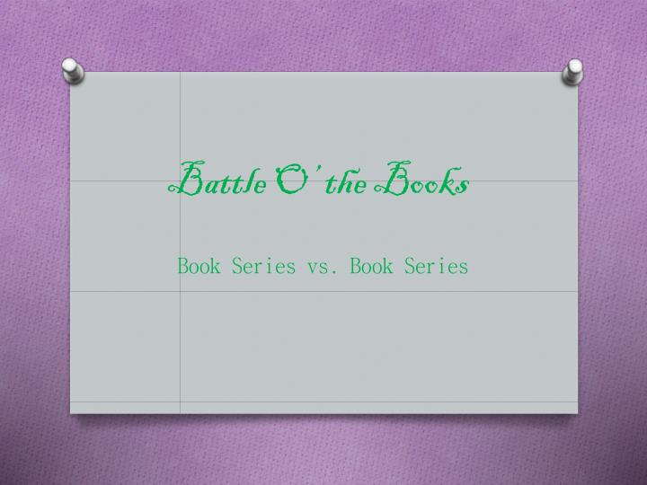 Battle O' the Books